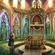 Gerda in the temple