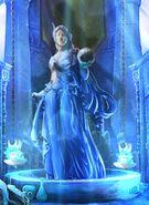 Sea goddess in temple hall