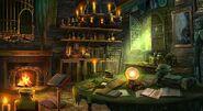 Boy witch interior