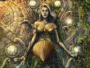 Sea goddess fresco shells