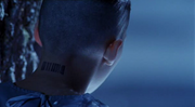 Young Max barcode tattoo