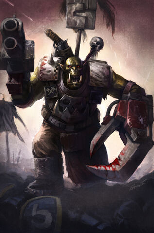 File:Blood and Thunder Ork Warboss by wraithdt.jpg