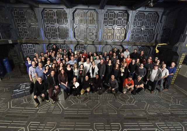 File:Dark Matter crew and actors Season 1.jpg