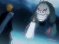 Grand Fisher uses Ichigo's Mother to stop Ichigo