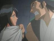 Ganju grabs Rukia