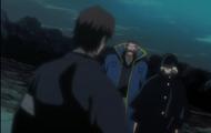 Kisuke confronts Sosuke Aizen