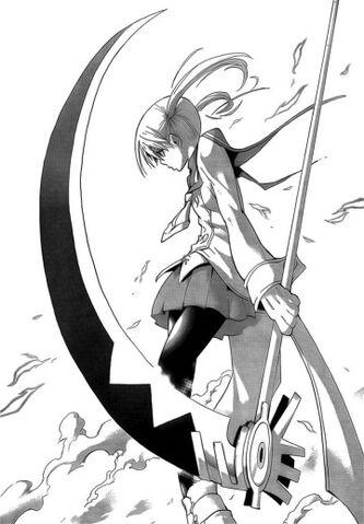 File:Maka with her Death Scythe.jpg
