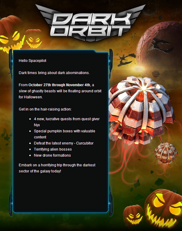 Scary Orbit Event Email