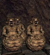Demonic statues