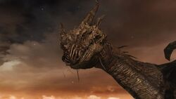 Close up of ancient dragon