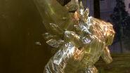 Golden crystal golem