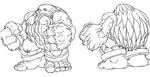 Night Warriors Anime sketch work