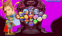Vampire Savior Lord of Vampire Character Select Screen