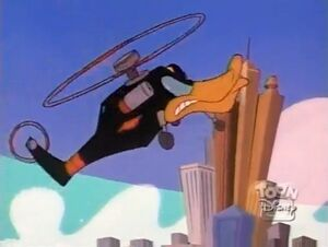 Just Us Justice Ducks Part 1 - Negaduck's helicopter