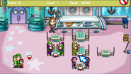 Diner Dash Sizzle and Serve Seafood Restaurant interior customized