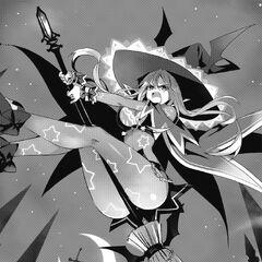 Natsumi volant à l'aide d'Haniel.