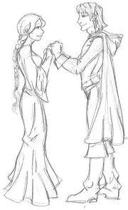 Lelldorin and Ariana by evolra