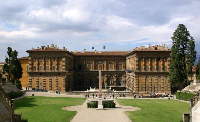 File:Palazzo Pitti Gartenfassade Florenz.jpg