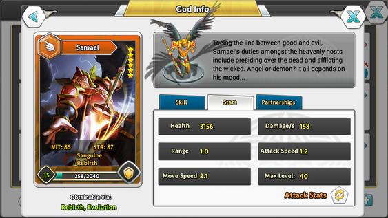DoG Gods God Info Stats