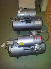 Pair of three phase compressors