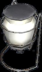Portable gas lamp worn
