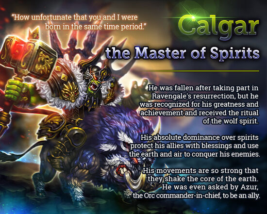 Calgar the Master of Spirits release poster