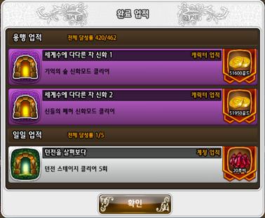 Kr patch dungeon achievement new