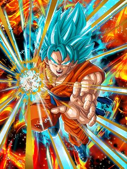 A God Evolved Super Saiyan God SS Goku