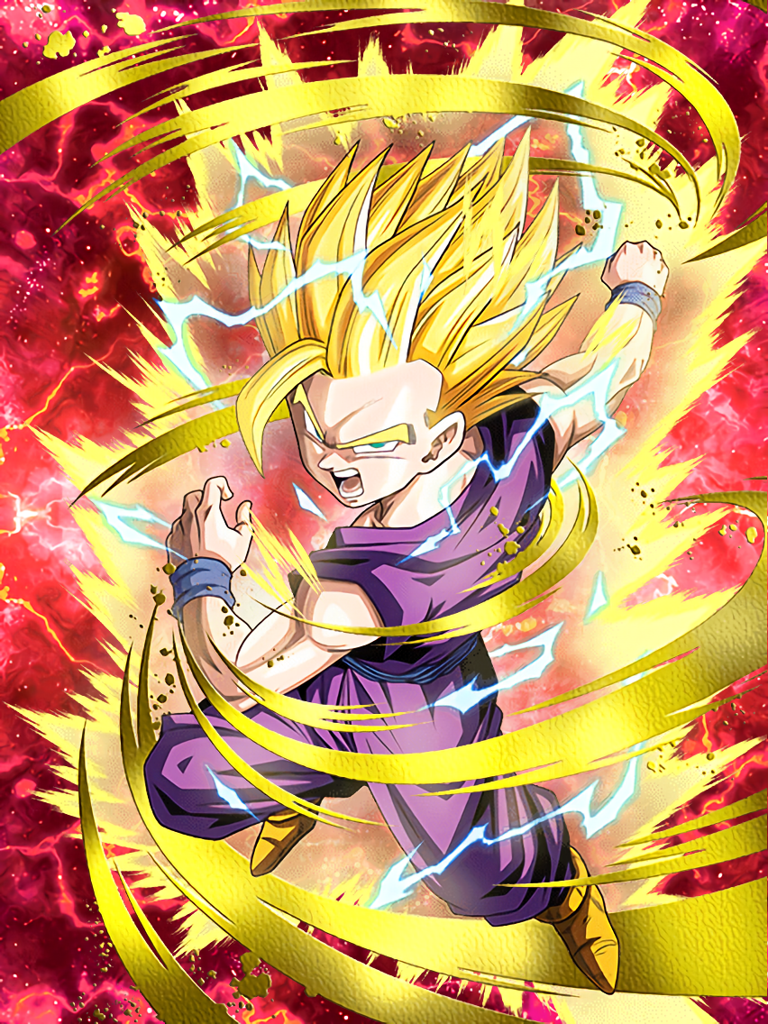 Flaring Rage Super Saiyan 2 Gohan Youth Dragon Ball Z