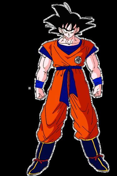 Goku standing tall