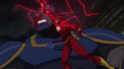 Barry stabs Darkseid
