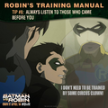 Batman vs. Robin Robin's training manual tip 6.png