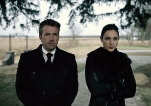 Bruce and Diana at Clark's funeral