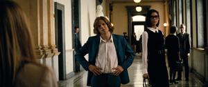 Lex Luthor stares at Senator Finch alongside Mercy Graves