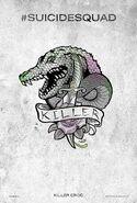 Suicide Squad tattoo poster - Killer Croc
