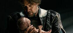 Jor-El and baby Kal-El