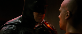 Batman threatening Luthor