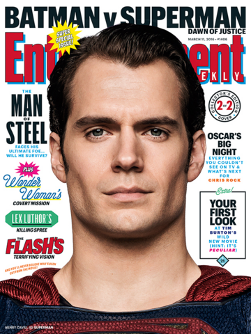 File:Entertainment Weekly - Batman v Superman Dawn of Justice March 2016 variant cover - Superman.png