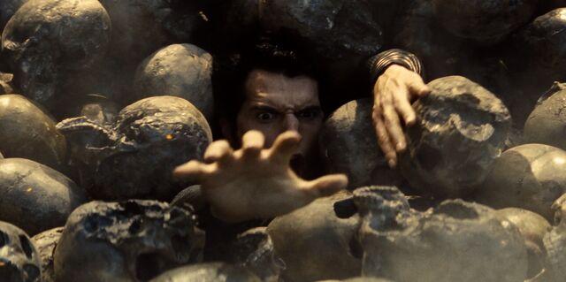 File:Superman's drowns in a nightmare of skulls.jpg