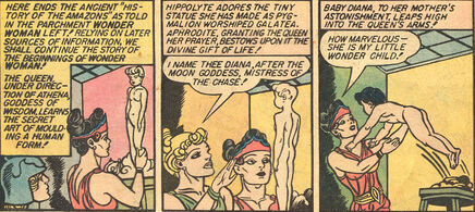 Hippolyta wonder woman born