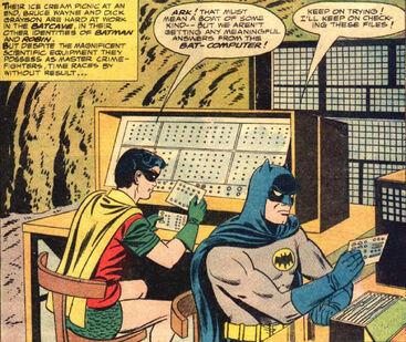 Original batcomputer Batman Robin