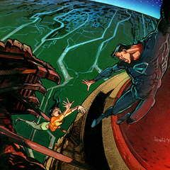 Lois and Superman on the skull ship by <a href=