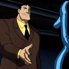 Bruce Wayne investigates Cybertron.