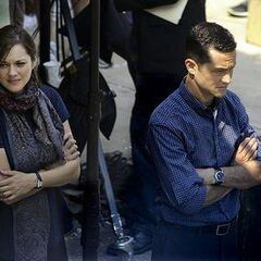 Marion Cotillard and Joseph Gordon-Levitt on set.