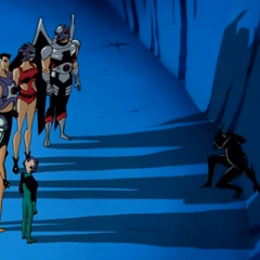 Starro mind-controlling the Justice League.