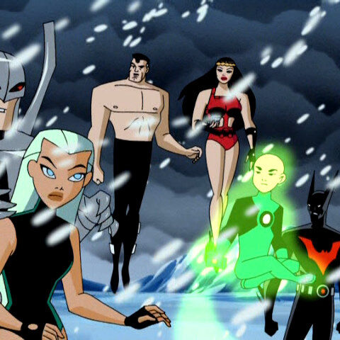 The Justice League after they stop the Starro invasion.