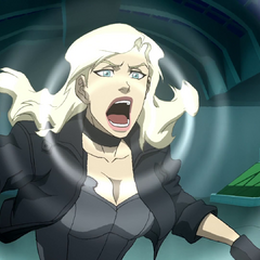 Black Canary bringing out her canary cry