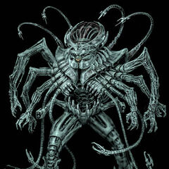 Brainiac's giant battle suit by <a rel=