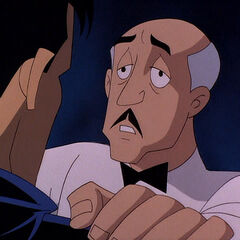 Alfred comforts Bruce after the ordeal with Andrea.