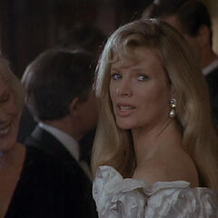 Vicki at the party in Wayne Manor.